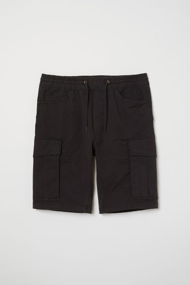 Cotton cargo shorts - Black - Men | H&M IE