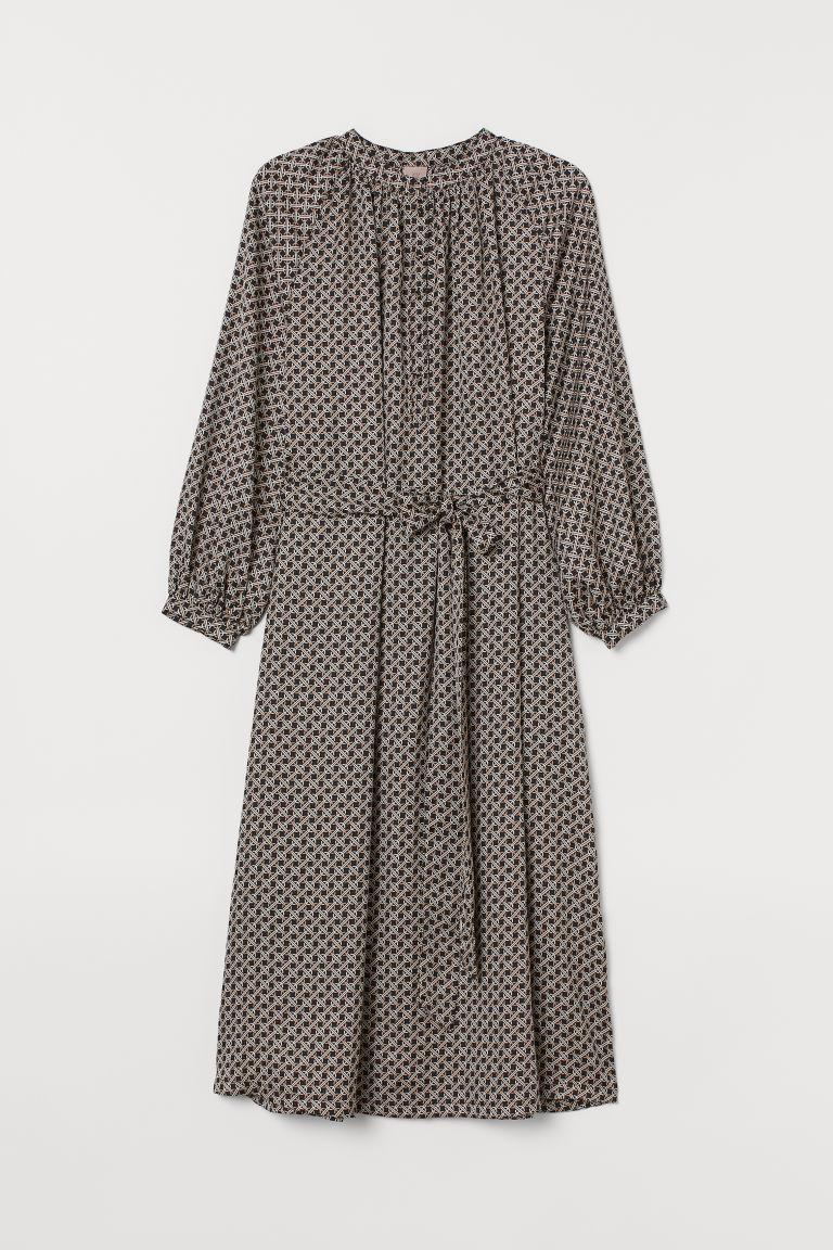 H&M+ Dress with Tie Belt