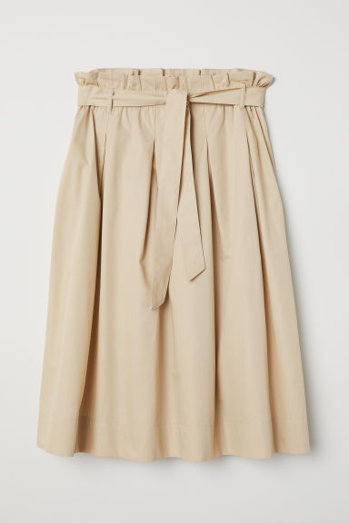 Cotton skirt - Beige - Ladies | H&M CN