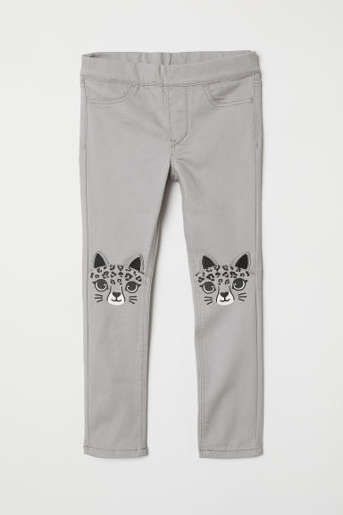 Treggings with appliqués - Grey - Kids | H&M