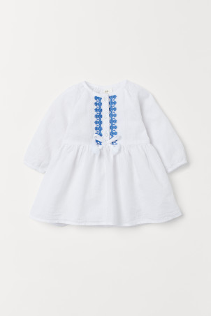 Embroidered cotton dressModal