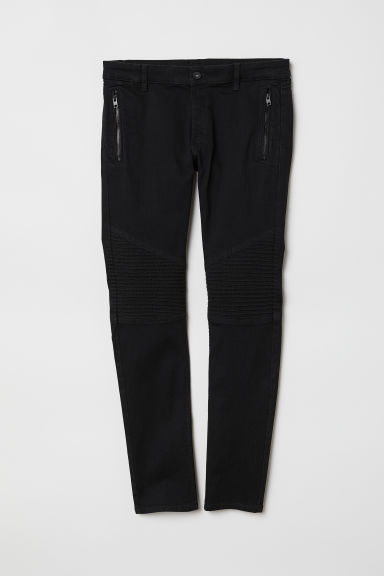 Super Skinny Biker Jeans - Black - Men | H&M