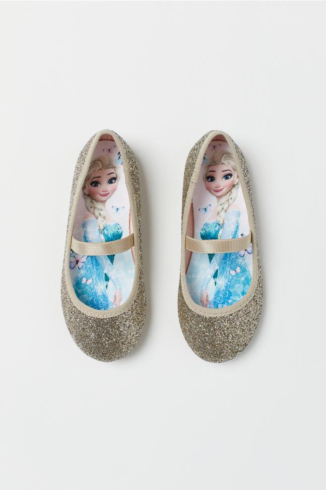 3bac06249 Ballet pumps - Gold-coloured/Frozen - Kids | H&M ...