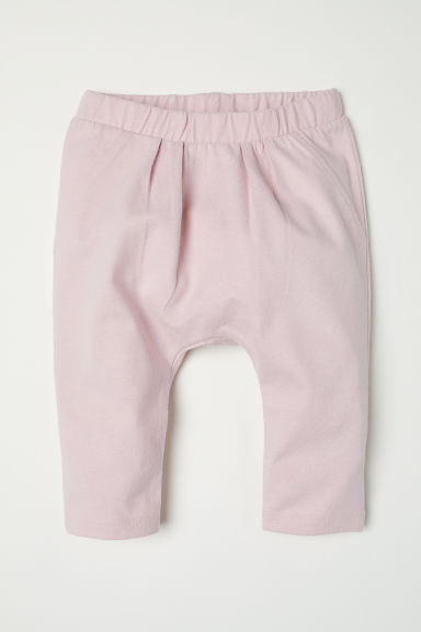 Pleat-front cotton trousers - Light pink - Kids | H&M