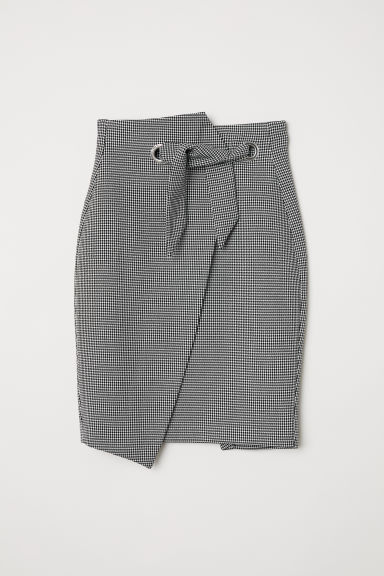 Patterned pencil skirt - White/Dogtooth - Ladies | H&M CN
