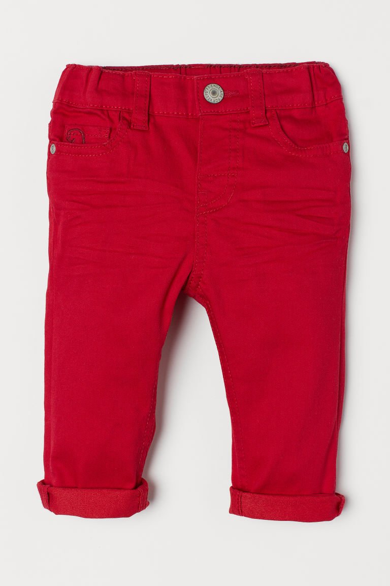 Twill trousers - Red - Kids | H&M CN