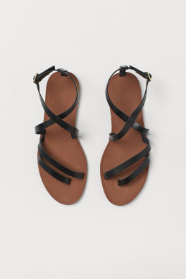 59b90bb57 Strappy leather sandals