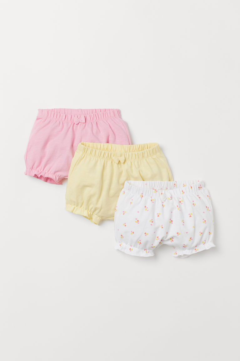 3-pack jersey shorts - Pink/Hearts - Kids | H&M
