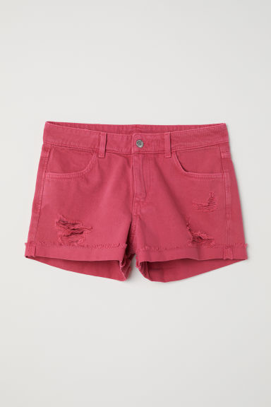 Denim shorts - Cerise -  | H&M