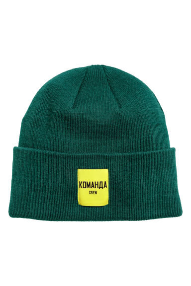 Fine-knit hat - Dark green - Men | H&M CN