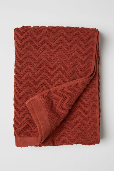 Jacquard-weave bath sheet - Rust - Home All | H&M CN