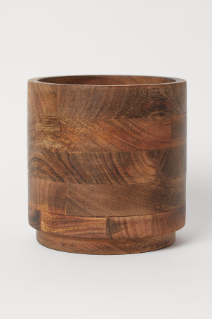 Large wooden plant pot