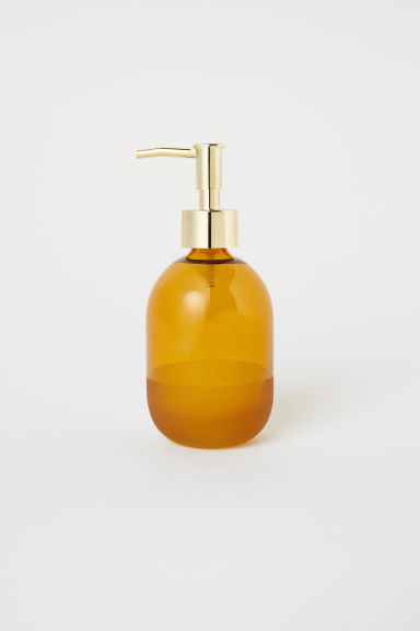 Glass soap dispenser - Mustard yellow - Home All | H&M GB