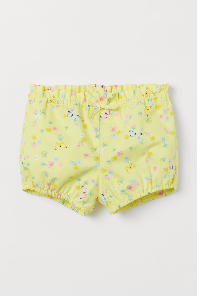 Puff Pants - Yellow/floral - Kids | H&M US