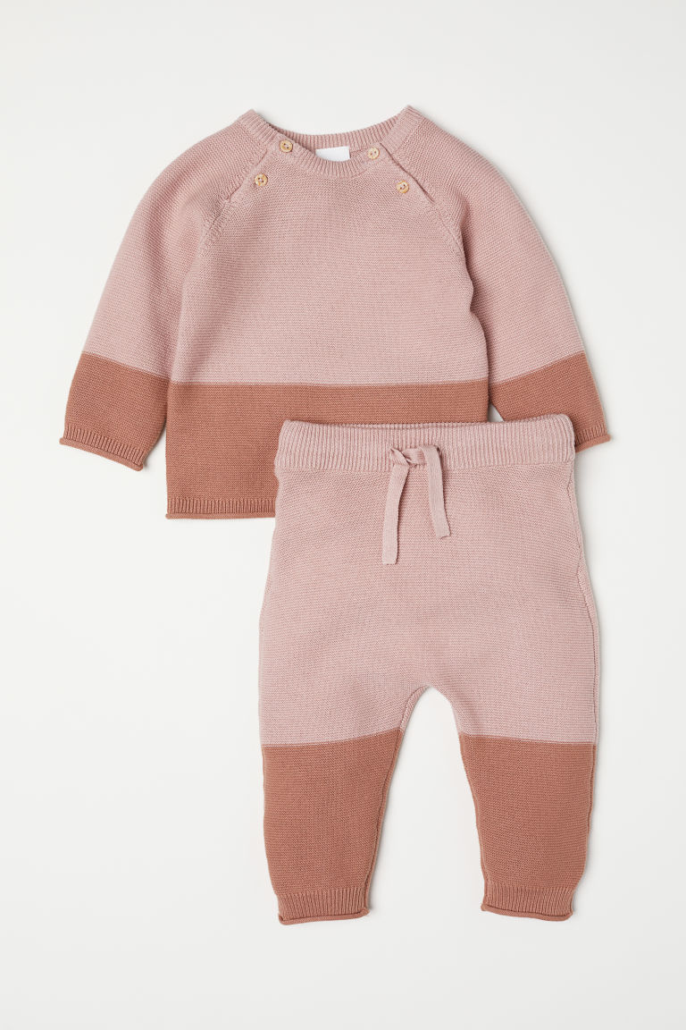 Top and trousers - Powder pink - Kids | H&M CN