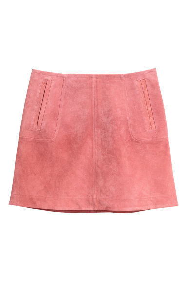 Gonna corta scamosciata - Rosa vintage -  | H&M IT