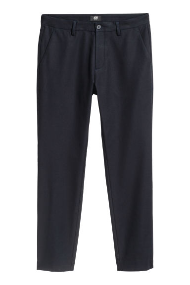 Cotton trousers Slim fit - Dark blue - Men | H&M CN