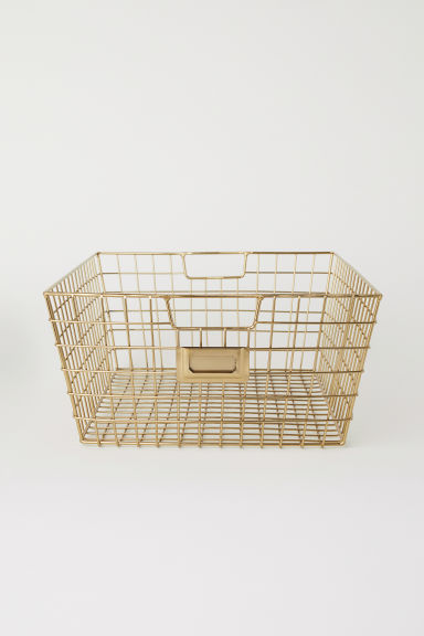 Storage basket - Gold-coloured - Home All | H&M CN