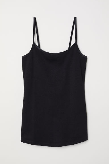 Jersey strappy top - Black - Ladies | H&M CN