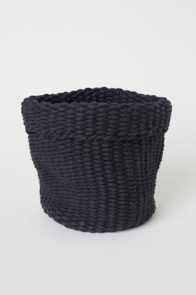 Panier en jute fait main - Gris anthracite - Home All | H&M FR