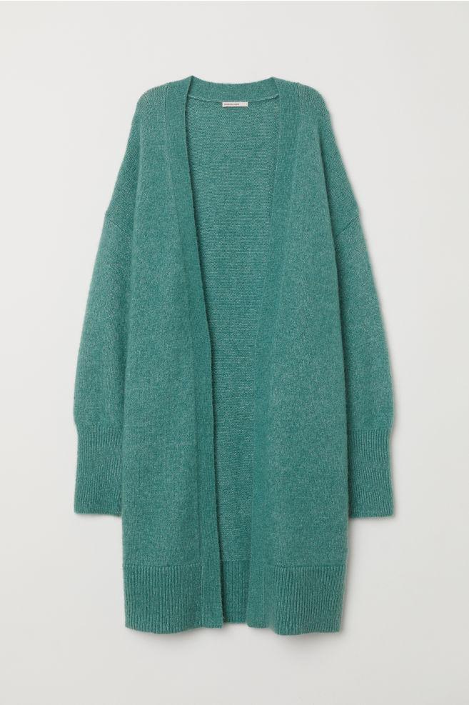 433d76ae5b2d Long wool-blend cardigan - Mint green - Ladies | H&M ...