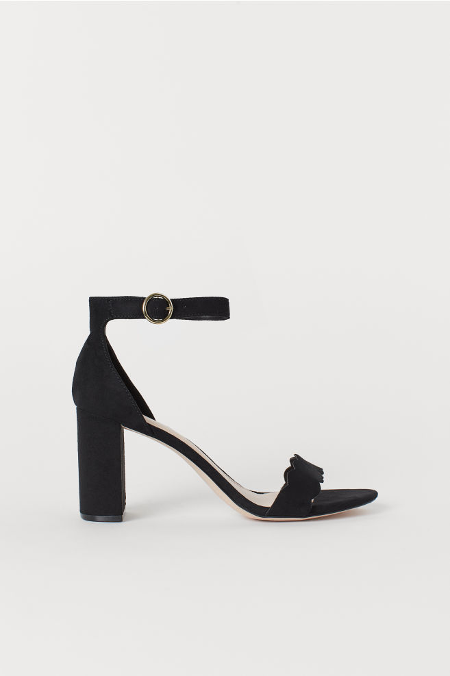 e61a9a60f Block-heeled Sandals - Black - Ladies | H&M ...