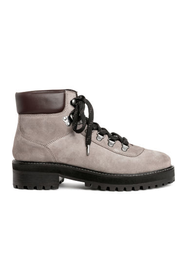 Warm-lined boots - Light mole/Suede - Ladies | H&M