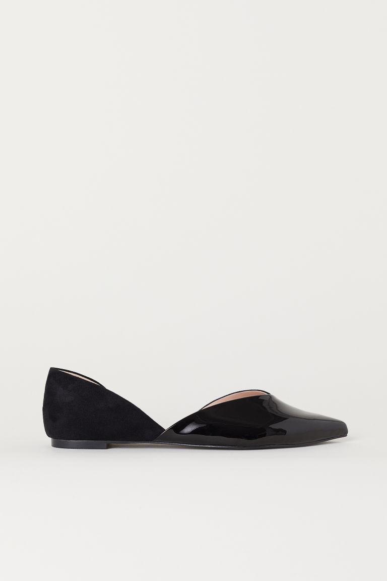 Pointed ballet pumps - Black - Ladies | H&M
