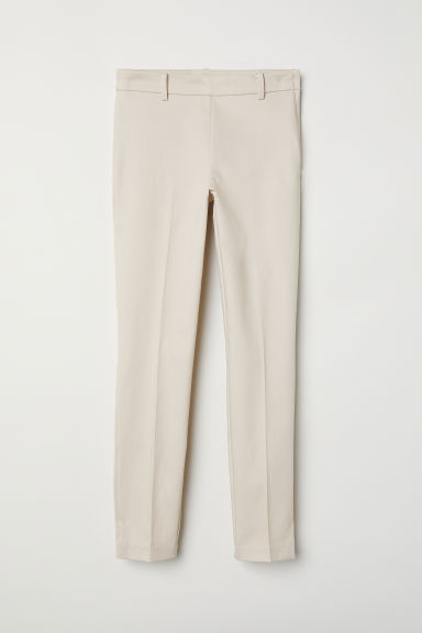 Cigarette trousers - Light beige - Ladies | H&M CN