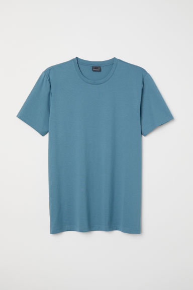 Premium cotton T-shirt - Turquoise - Men | H&M