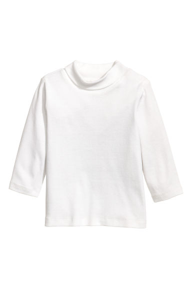 Polo-neck top - White - Kids | H&M CN