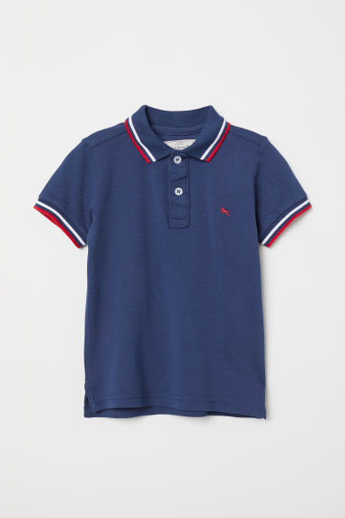Polo shirt - Dark blue/Red - Kids | H&M