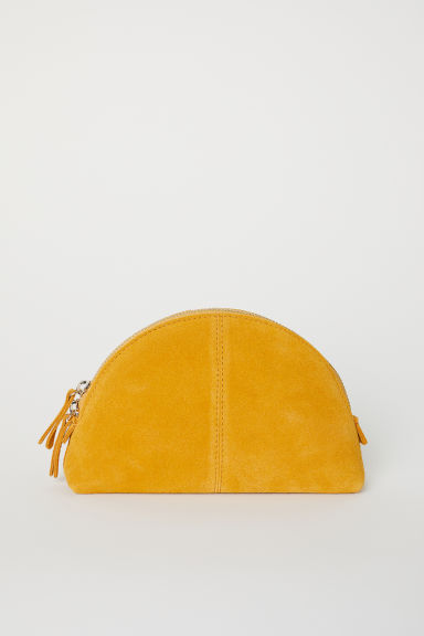 Suede make-up bag - Mustard yellow - Ladies | H&M IE