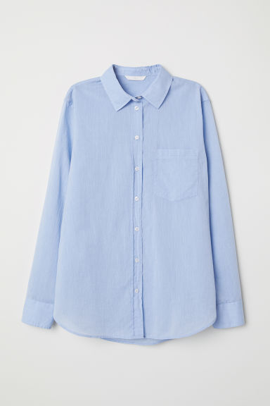 Cotton shirt - Light blue - Ladies | H&M