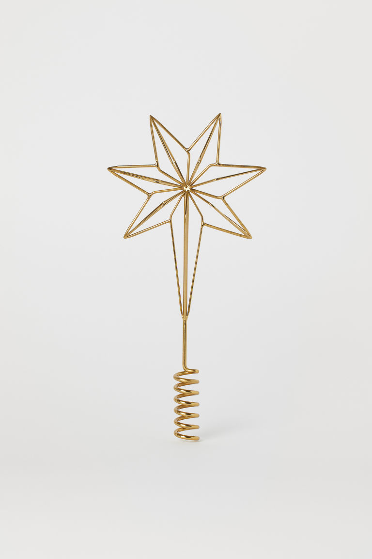 Christmas tree star - Gold-coloured - Home All | H&M CN