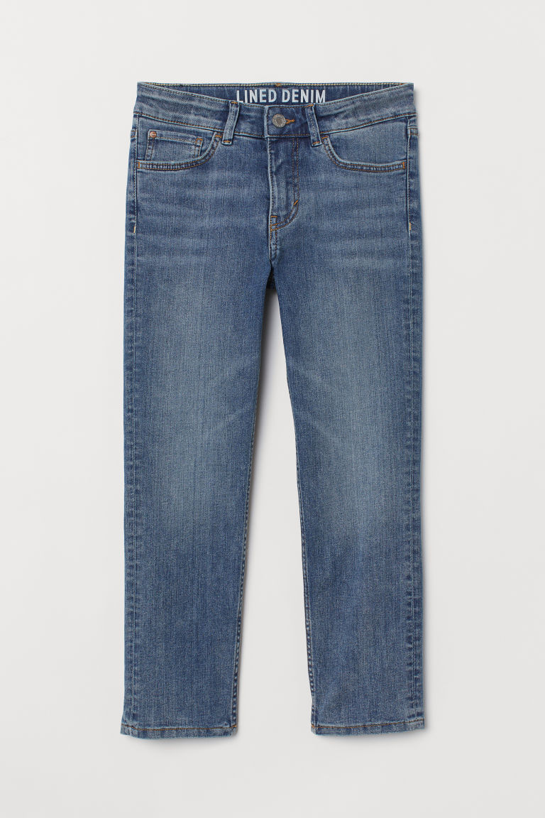 Skinny Fit Lined Jeans - Blu denim - BAMBINO | H&M IT