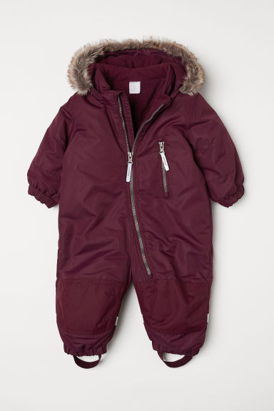 Padded outdoor all-in-one suit - Burgundy - Kids | H&M