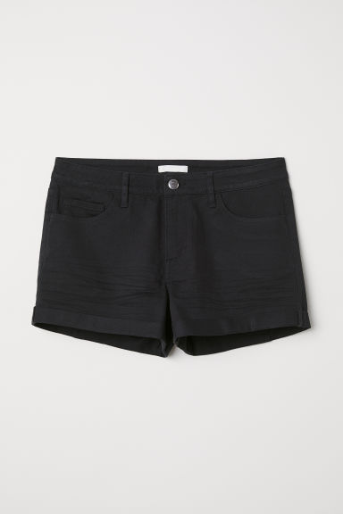 Short twill shorts - Black - Ladies | H&M CN
