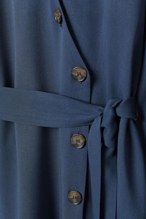 Sukienka z dekoltem w serek - Ciemnoniebieski - ONA   H&M PL 2