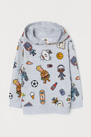 Hooded Sweatshirt with Motif