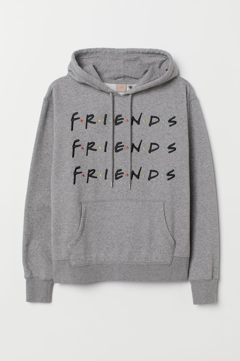 H&M+ Felpa con cappuccio - Grigio mélange/Friends - DONNA | H&M IT