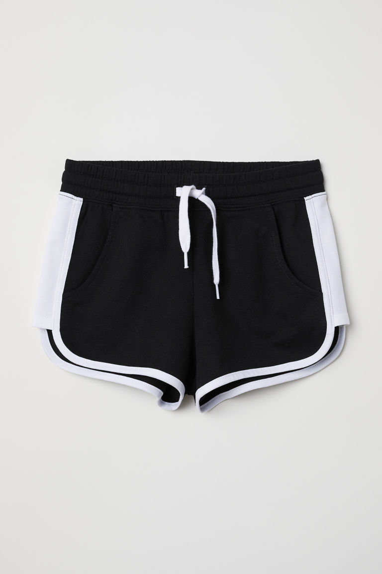 Shorts with side stripes - Black - Kids | H&M CN