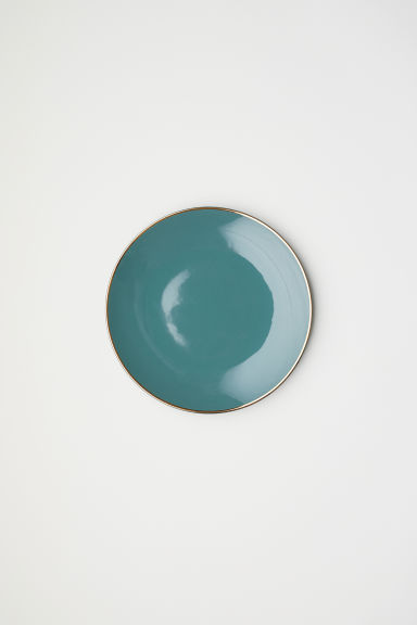 Porcelain plate - Dusky green - Home All | H&M CN
