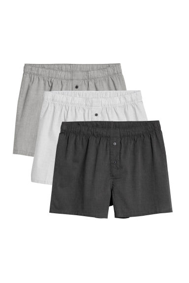 Set van 3 geweven boxershorts - Zwart gemêleerd - HEREN | H&M BE