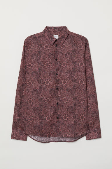 Patterned shirt - Rust red/Floral - Men | H&M CN