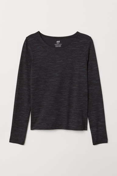 Top in jersey - Nero mélange - BAMBINO | H&M IT