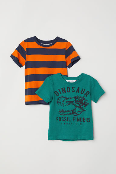2-pack T-shirts - Green/Dinosaur -  | H&M CN