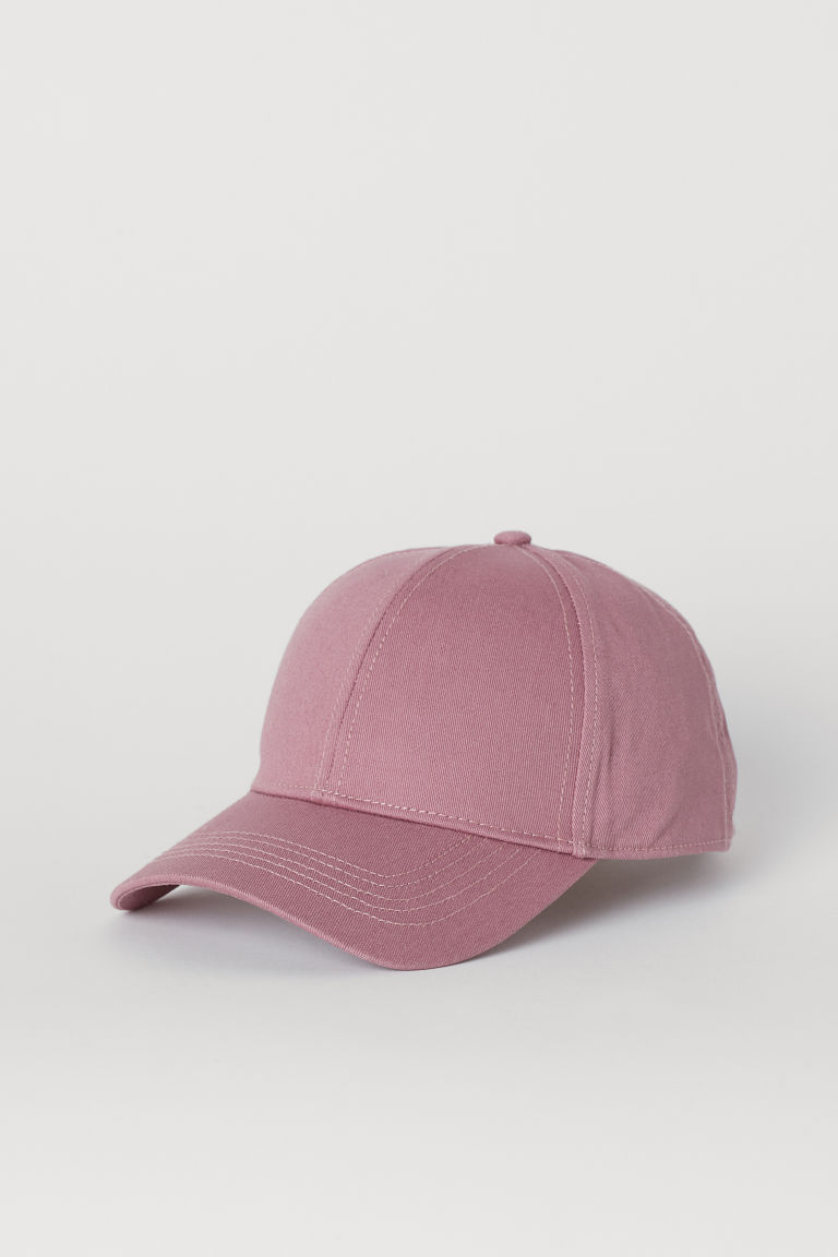 Cotton twill cap - Vintage pink -  | H&M