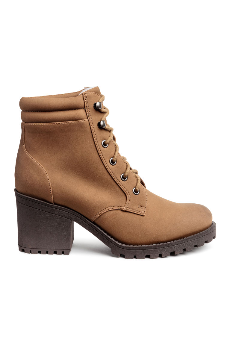 Pile-lined boots - Camel - Ladies | H&M CN