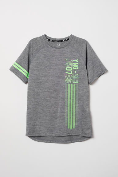 Sports top - Grey marl - Kids | H&M